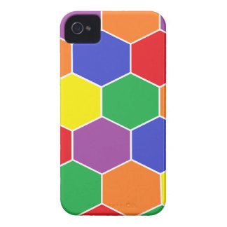 """Colorful Hexagons"" Barely There Blackberry Bold iPhone 4 Case-Mate Case"