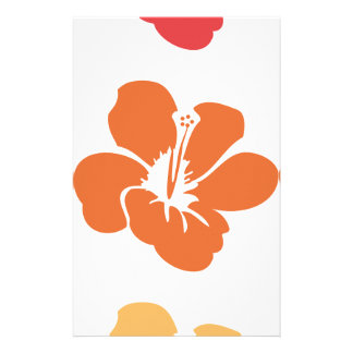Colorful Hibiscus Flowers Stationery