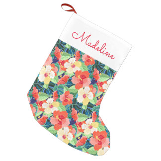 Colorful Hibiscus Pattern   Add Your Name