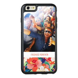 Colorful Hibiscus Pattern | Add Your Photo & Text OtterBox iPhone 6/6s Plus Case