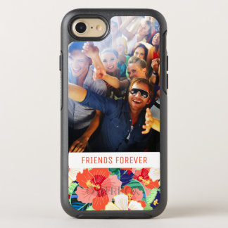 Colorful Hibiscus Pattern | Add Your Photo & Text OtterBox Symmetry iPhone 8/7 Case