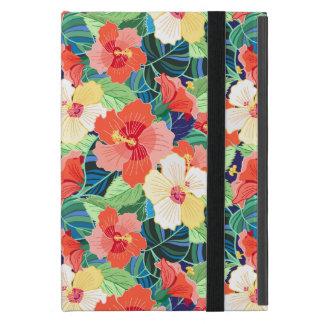 Colorful Hibiscus Pattern iPad Mini Case
