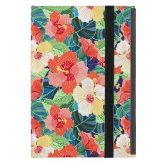 Colorful Hibiscus Pattern iPad Mini Cases