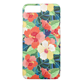 Colorful Hibiscus Pattern iPhone 7 Plus Case