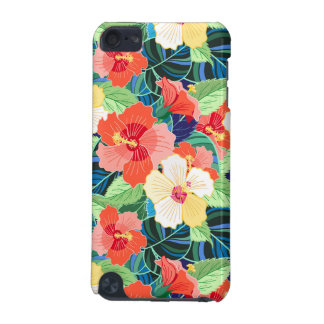 Colorful Hibiscus Pattern iPod Touch (5th Generation) Cases