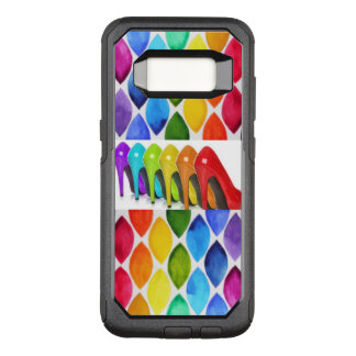 Colorful High Heels With Oval Pattern OtterBox Commuter Samsung Galaxy S8 Case
