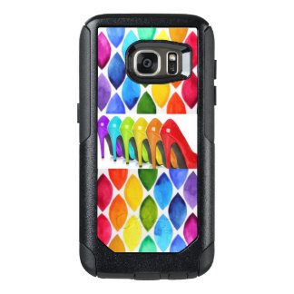 Colorful High Heels With Oval Pattern Print OtterBox Samsung Galaxy S7 Case