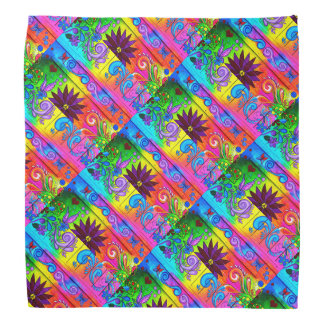 colorful hippie psychedelic bandannas