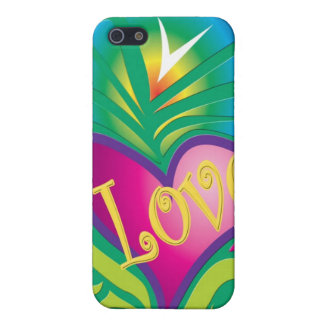 Colorful hippy love & heart iPhone 5/5S covers