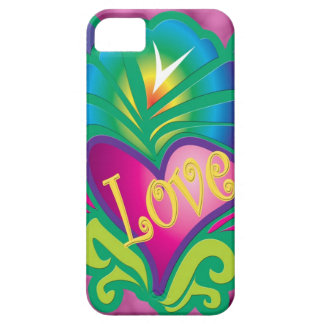 Colorful hippy love & heart iPhone 5 cases