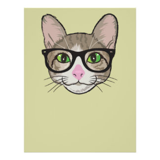 Colorful Hipster Cat Full Color Flyer