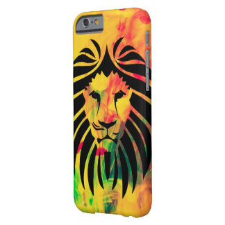 Colorful Hipster Lion and Painting Barely There iPhone 6 Case