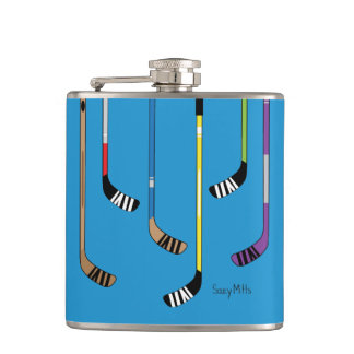 Colorful Hockey Sticks Flasks