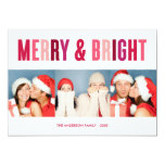 COLORFUL  | HOLIDAY PHOTO CARD 13 CM X 18 CM INVITATION CARD