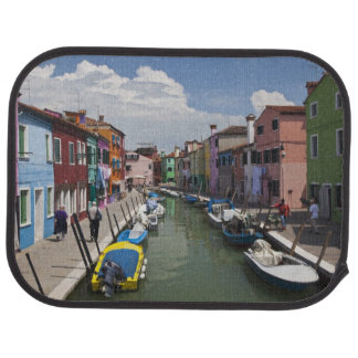 Colorful homes along canal on the island of car mat