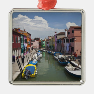 Colorful homes along canal on the island of christmas ornament