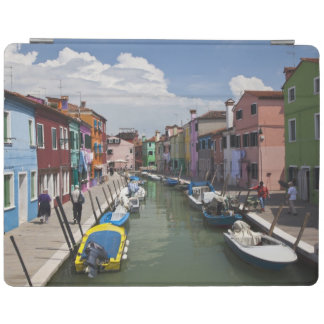 Colorful homes along canal on the island of iPad cover