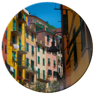 Colorful Homes in Cinque Terre Italy Plate