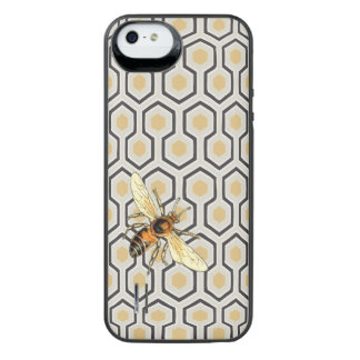 Colorful Honeycomb Pattern and Honey Bee iPhone 6 Plus Case