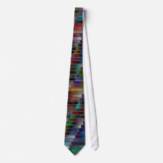 Colorful Horizontal and Diagonal Pattern Tie