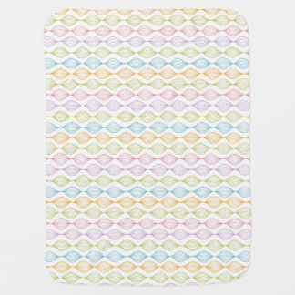 Colorful horizontal ogee pattern baby blanket