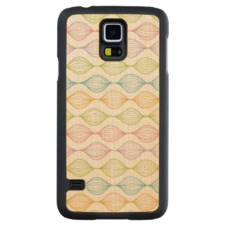 Colorful horizontal ogee pattern carved maple galaxy s5 case