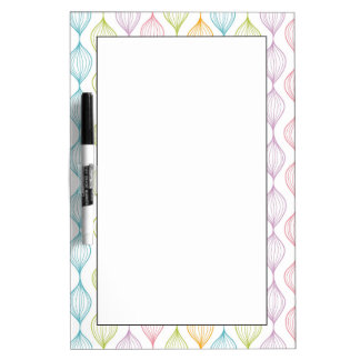 Colorful horizontal ogee pattern dry erase board