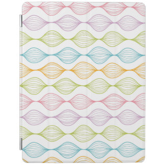 Colorful horizontal ogee pattern iPad cover