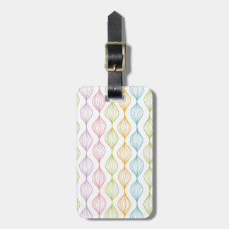Colorful horizontal ogee pattern luggage tag