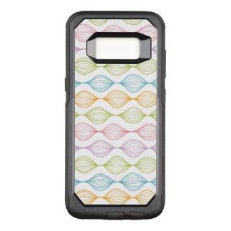 Colorful horizontal ogee pattern OtterBox commuter samsung galaxy s8 case