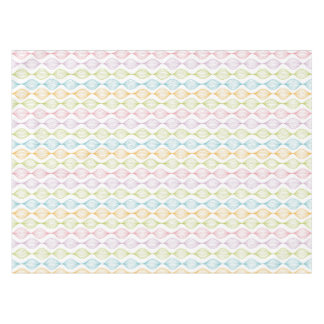 Colorful horizontal ogee pattern tablecloth