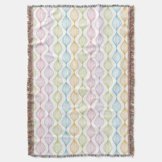 Colorful horizontal ogee pattern throw blanket