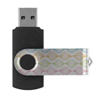 Colorful horizontal ogee pattern USB flash drive