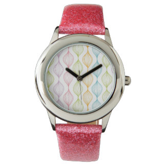 Colorful horizontal ogee pattern watch