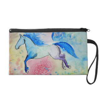 Colorful Horse Clutch Wristlet Clutches