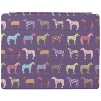 Colorful Horse Pattern iPad Cover