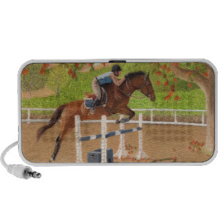 Colorful Horse & Rider Jumping Mp3 Speakers