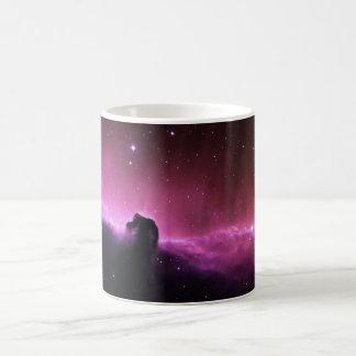 Colorful horsehead nebula basic white mug