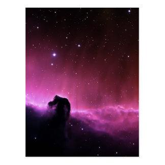 Colorful horsehead nebula post card