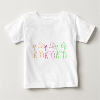 Colorful horses baby T-Shirt