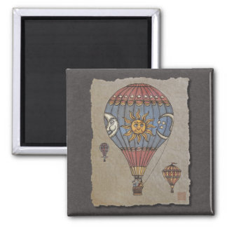 Colorful Hot Air Balloon Refrigerator Magnet