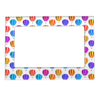 Colorful Hot Air Balloon Pattern Magnetic Picture Frame