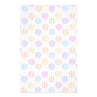 Colorful Hot Air Balloon Pattern Personalised Stationery