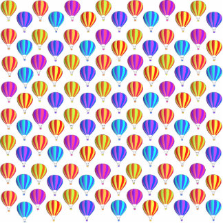 Colorful Hot Air Balloon Pattern Acrylic Cut Outs