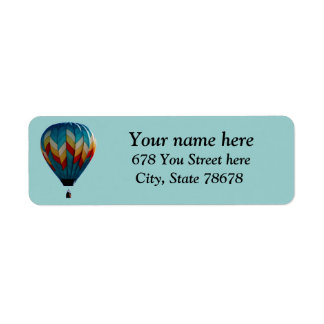 Colorful Hot Air Balloon Return Address Labels