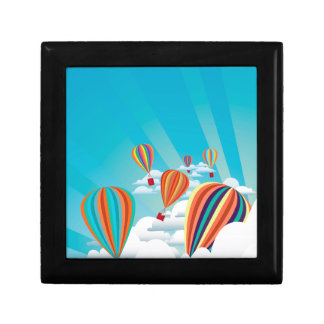 Colorful hot air balloons 2 small square gift box