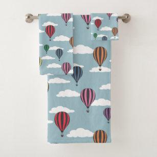 Colorful Hot Air Balloons Bath Towel Set