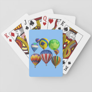 Colorful Hot Air Balloons Playing Cards