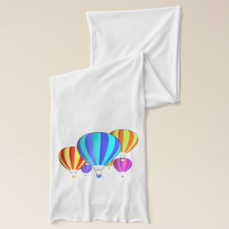 Colorful Hot Air Balloons Scarf