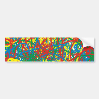 Colorful hot mess blast multi color splash rainbow bumper sticker